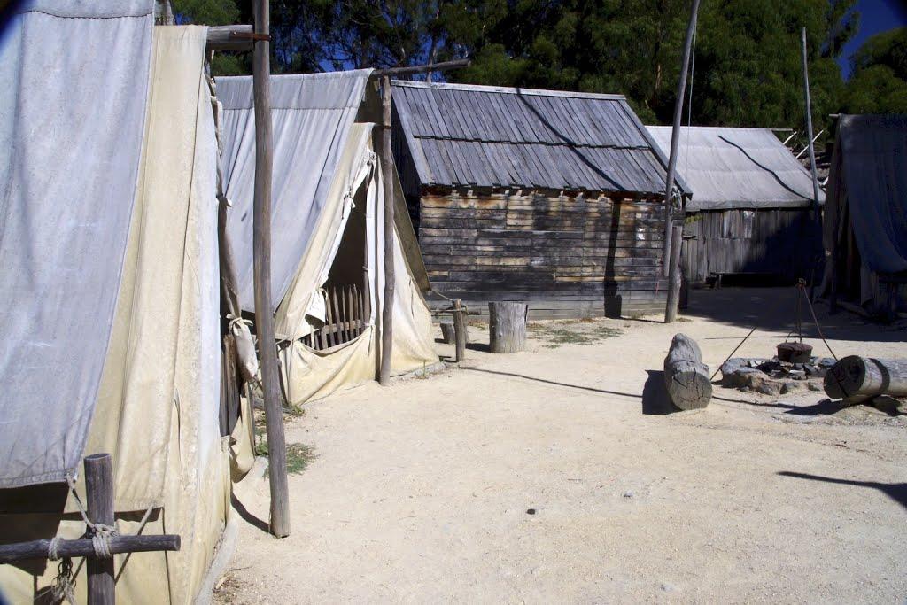 Chinese miners camp, Балларат