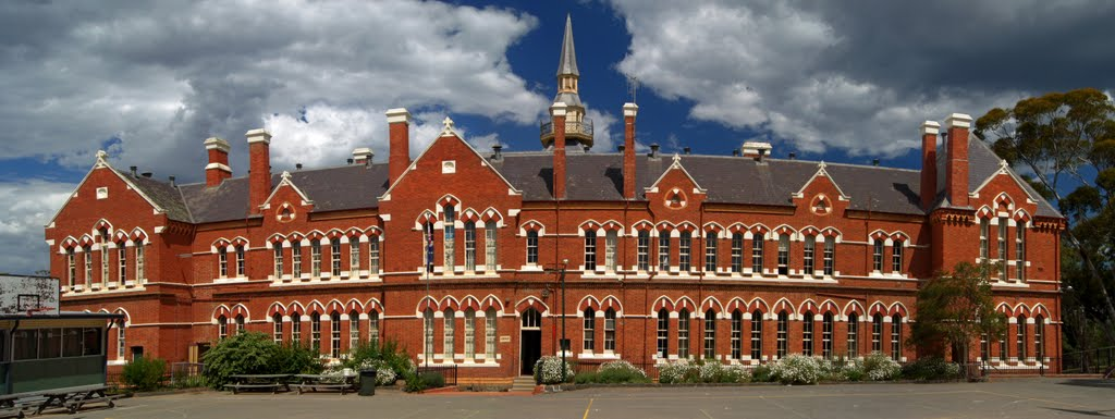Camp Hill Central School (2010) - designed by Henry Bastow, Chief Architect, Education Department, and opened in 1878, Бендиго