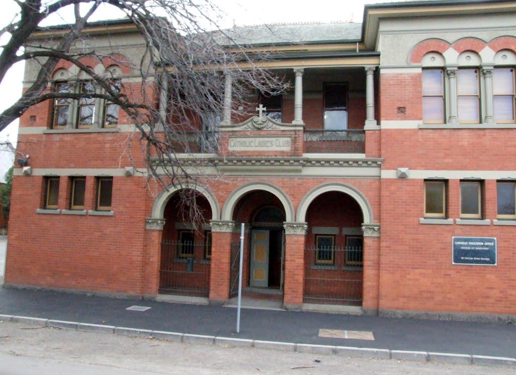 Catholic Ladies Club, McCrae Street, Bendigo, Victoria, Бендиго