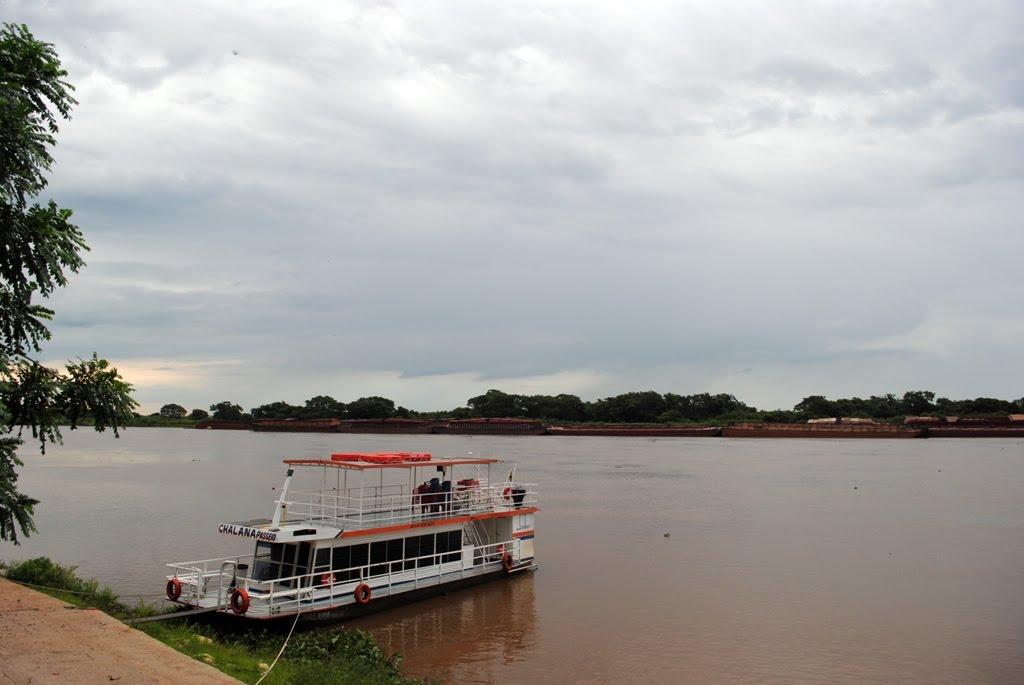 Chalana no rio Paraguai, Корумба