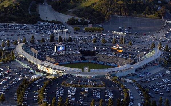 Dodger Stadium aerial, Лос-Анджелес