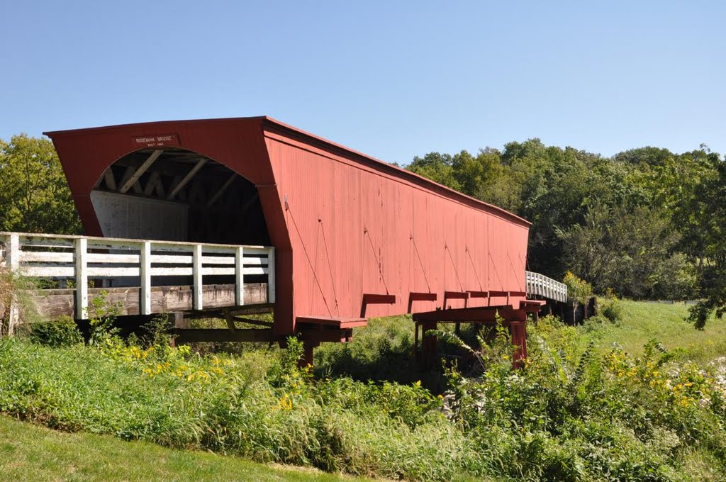 The bridge of Madison County - Roseman covered bridge in IA, Гринфилд