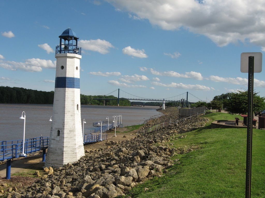 West Channel, Mississippi River, Clinton, Iowa, Клинтон