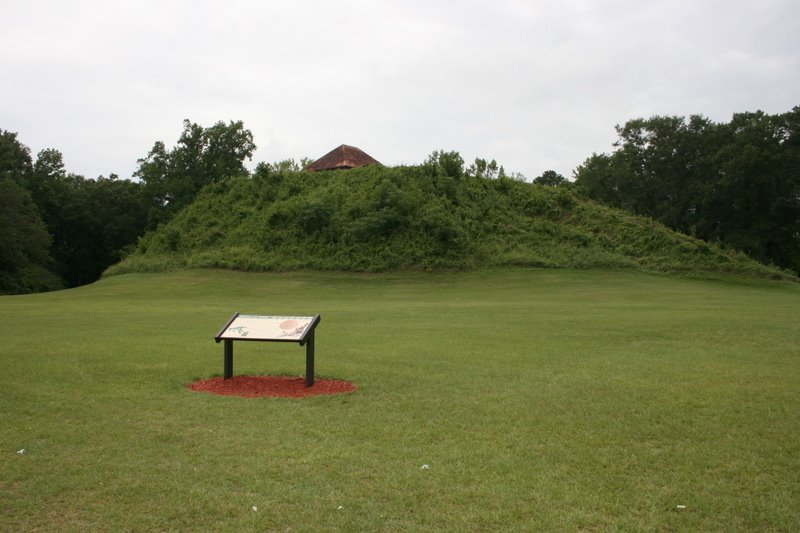 Mound B, the largest mound in the Moundville Archaeological Park. 7/6/2007, Маундвилл