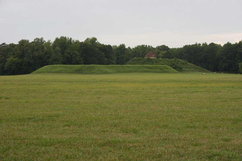 Mounds A & B. Moundville Archaeological Park. 7/6/2007, Маундвилл