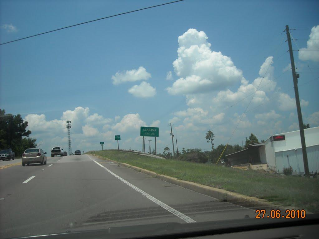 Entering Alabama State, from Florida, Фломатон