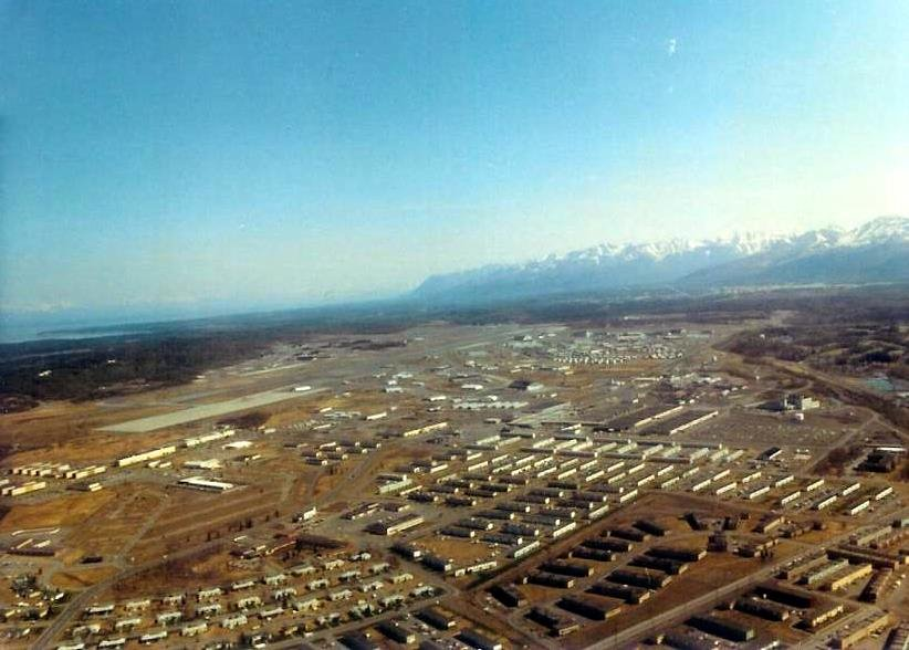 Spring 1982 Aerial, Elmendorf Air Force Base, Анкоридж