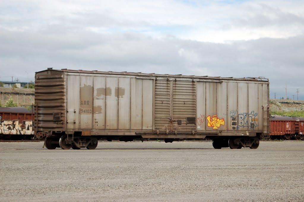 Alaska Railroad Box Car No. 94103 at Anchorage, AK, Анкоридж