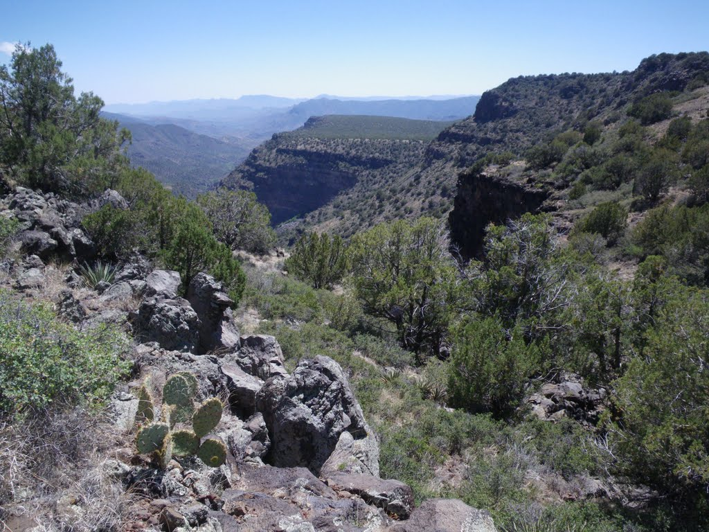 Upper Deadman Mesa view south toward Lower Deadman Mesa and the Verde River, Туба-Сити