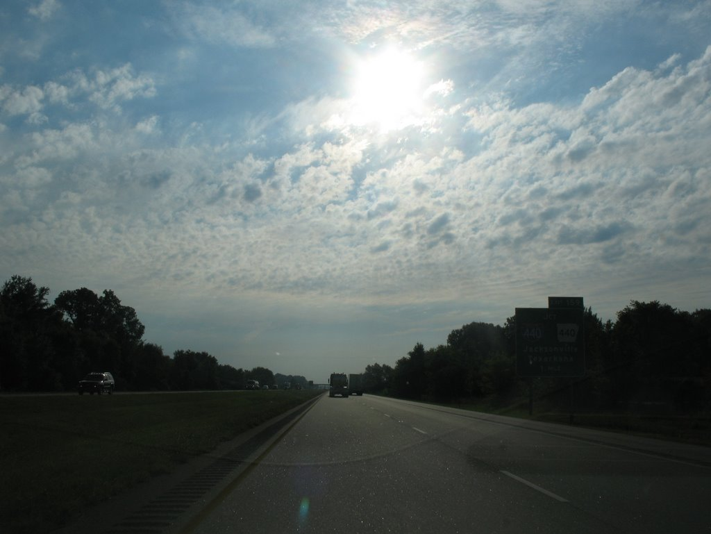 Broken clouds on 40, Брадфорд