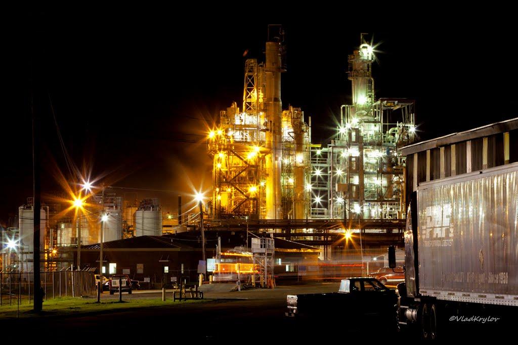 Industrial landscape. Georgia - Pacific Chemicals facility, Crossett, AR., Кроссетт
