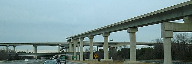 Crazy multistory overpass I 95 and Rt 150, Беллвуд
