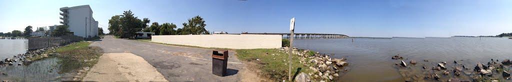 TMSP 360° panoramic view - Prince Street at the Rappahannock River shore, Таппаханнок