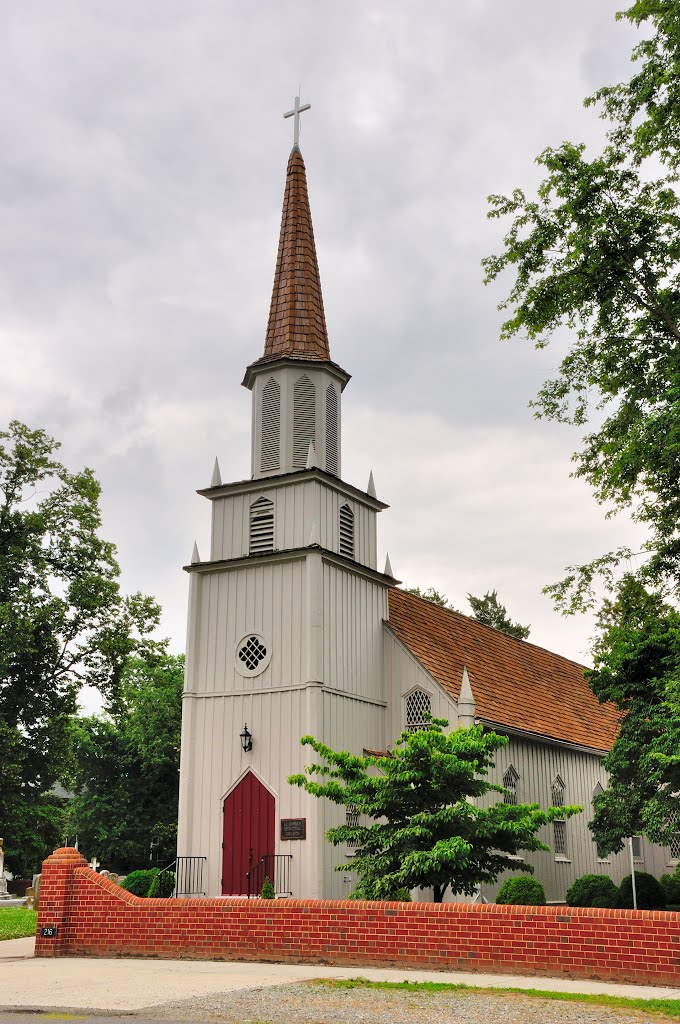 VIRGINIA: ESSEX COUNTY: TAPPAHANNOCK: St. Johns Episcopal Church, 216 Duke Street front view, Таппаханнок