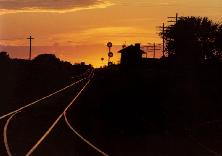 Sunset on the rails at Junction Ciy, Wisconsin, Ракин