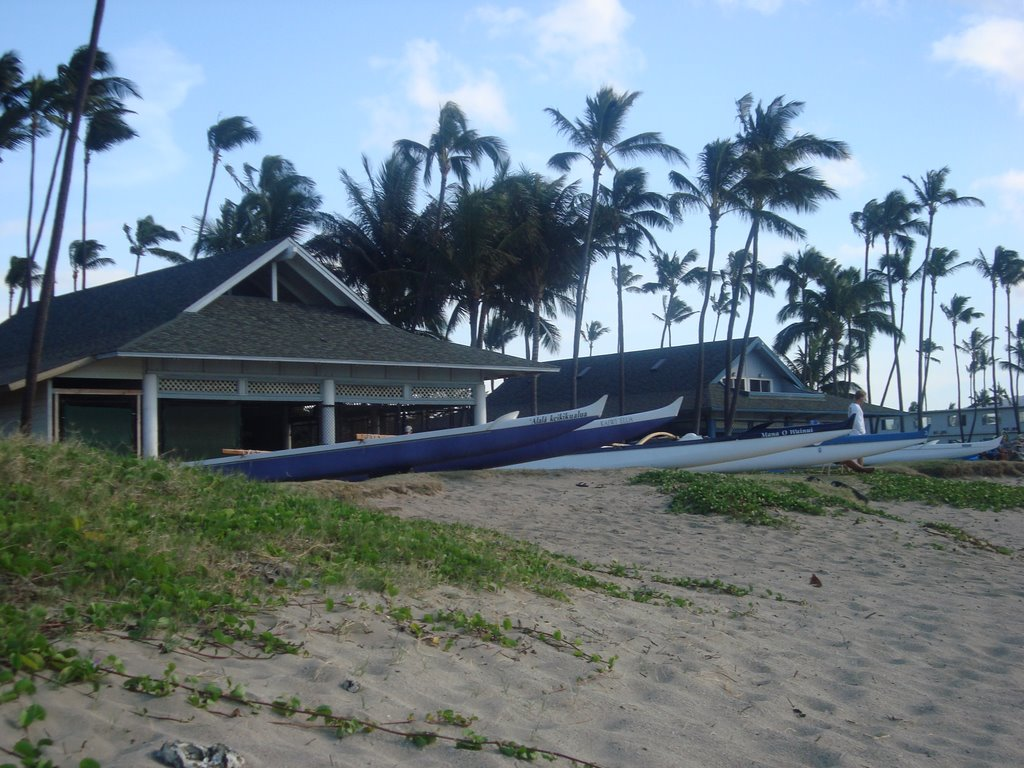 Canoes at Kahului Harbor in Maui, HI, Кахулуи