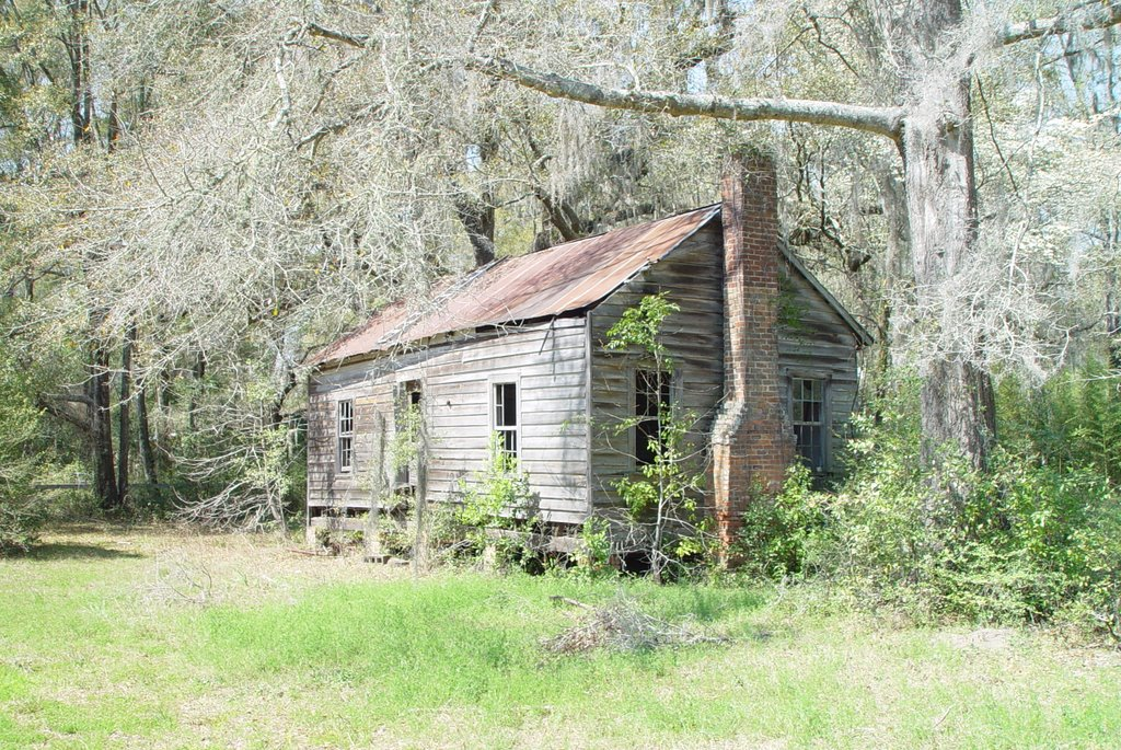 abandoned weathered cracker house, west end of historic district, Lloyd, Fla (3-16-2008) 1, Аттапулгус
