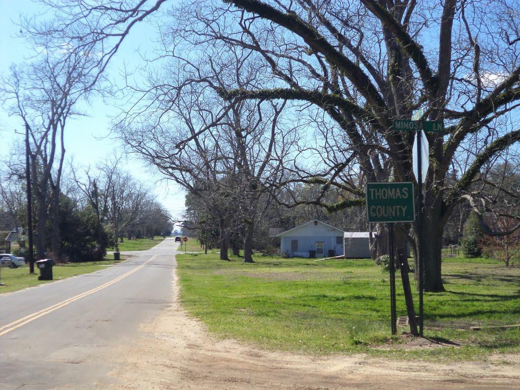Thomas County border, E Coffee Rd WB, Барвик