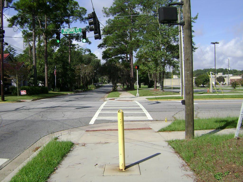Azalea City Trail on W. Ann St. crossing Williams St., Валдоста