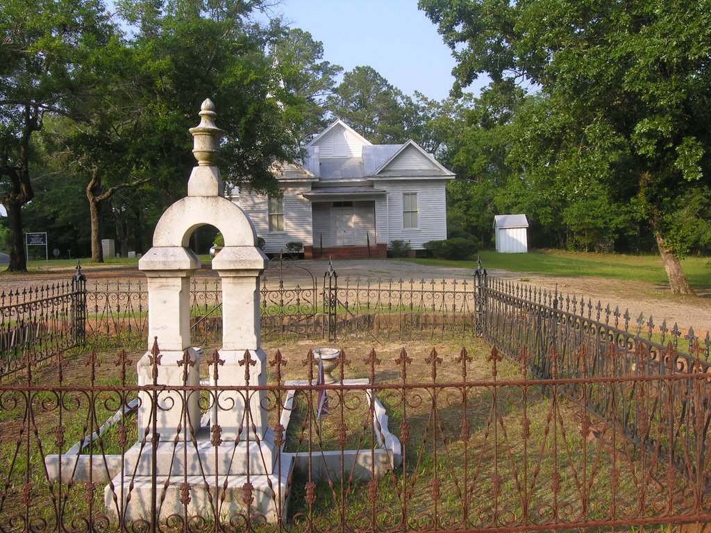 On This site June 27th, 1822, the Georgia Baptist Association was organized, Вернонбург