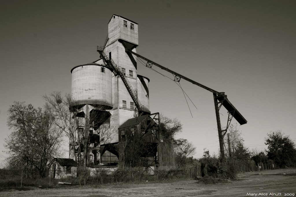 A strangers eyes rest upon this lonely wayside coaling tower., Вилмингтон-Айленд