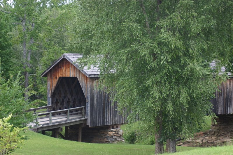 Twelve miles south of Thomaston,  is the only remaining covered bridge in Upson County, Georgia.  It was built in 1895 by Dr. J.W. Herring, a physician of considerable engineering ability who constructed similar bridges throughout the area.  The bridge sp, Вэйкросс
