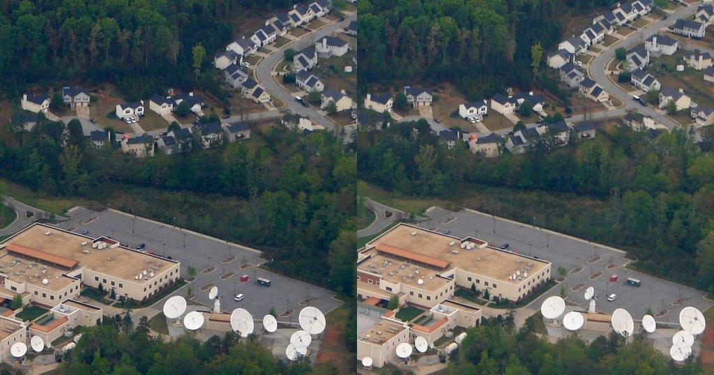 DSC035713d2s1n Satellite Communication Aerial 3D  4/15/07 - N view, Грешам Парк
