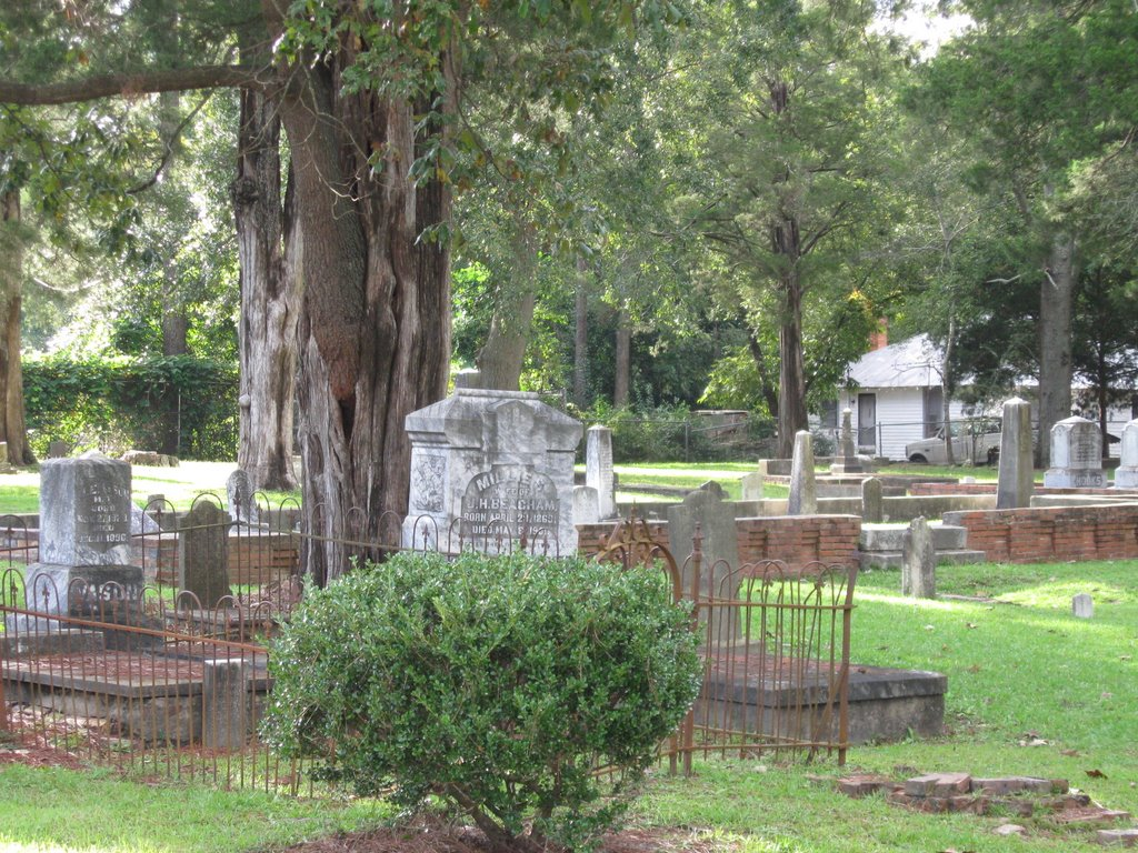 View of oldest public cemetery in Dublin, GA, Дублин