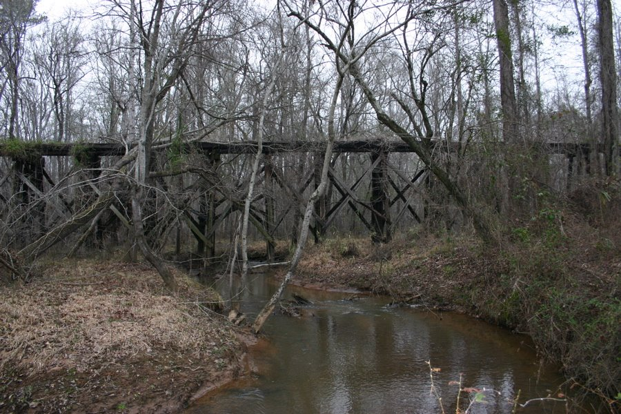Abandoned old trestle deep in the woods., Моултри