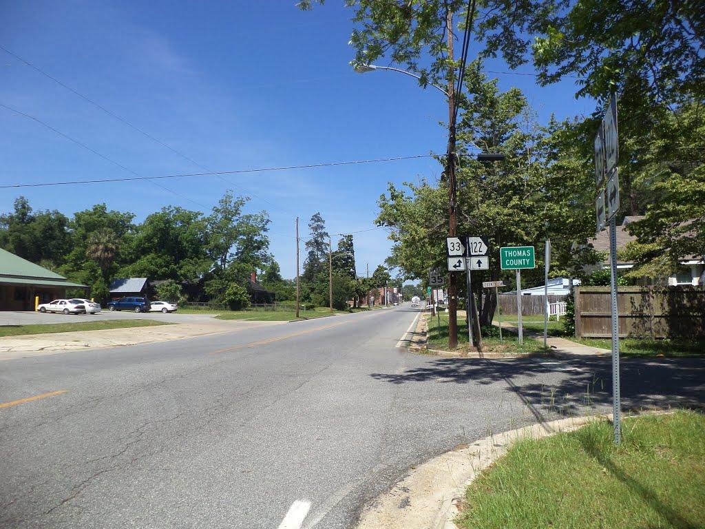 Thomas County Line, GA SR 122 WB, Паво