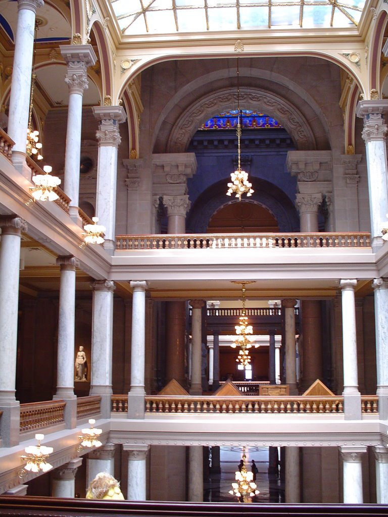 Indiana State Capital - South wing and rotunda, Индианаполис