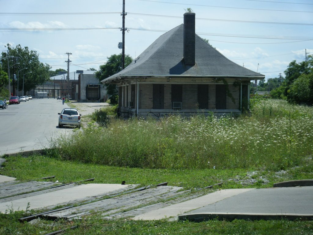 An abandoned rail depot in Richmond, Indiana, Ричмонд