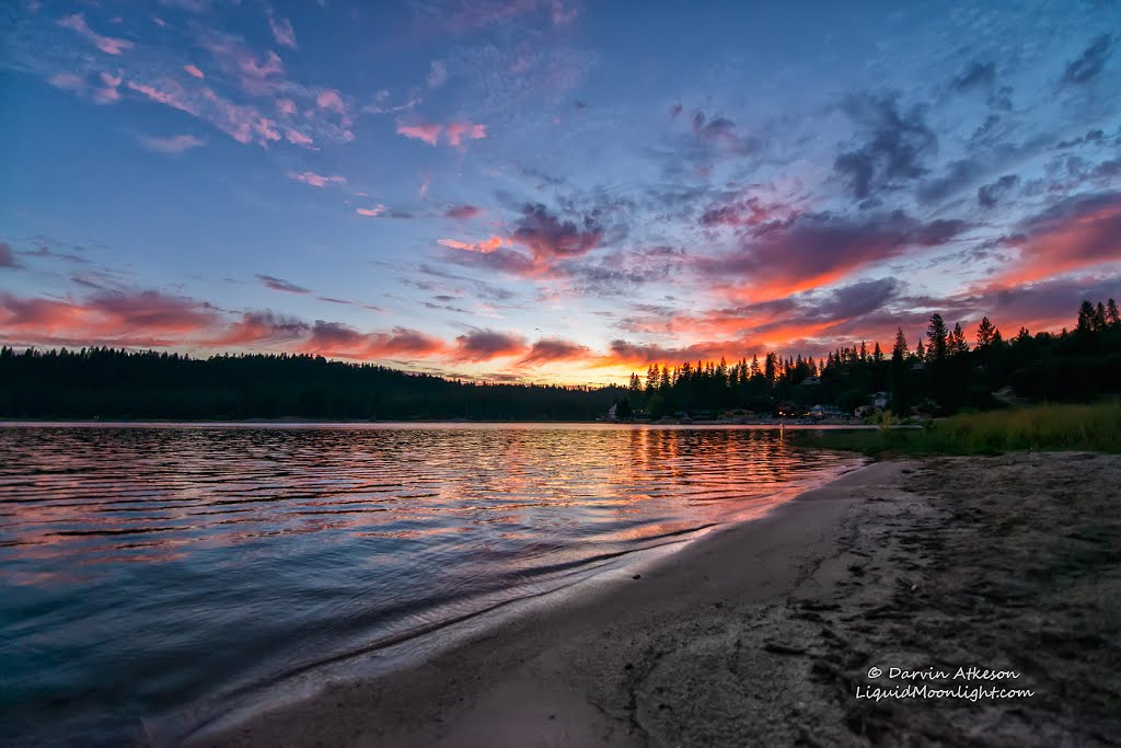 Sunset on Bass Lake, Ашланд