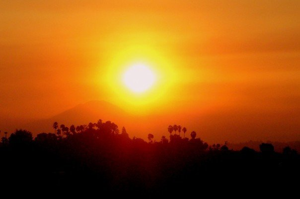 San Diego Wildfire Sunrise, Ла-Меса
