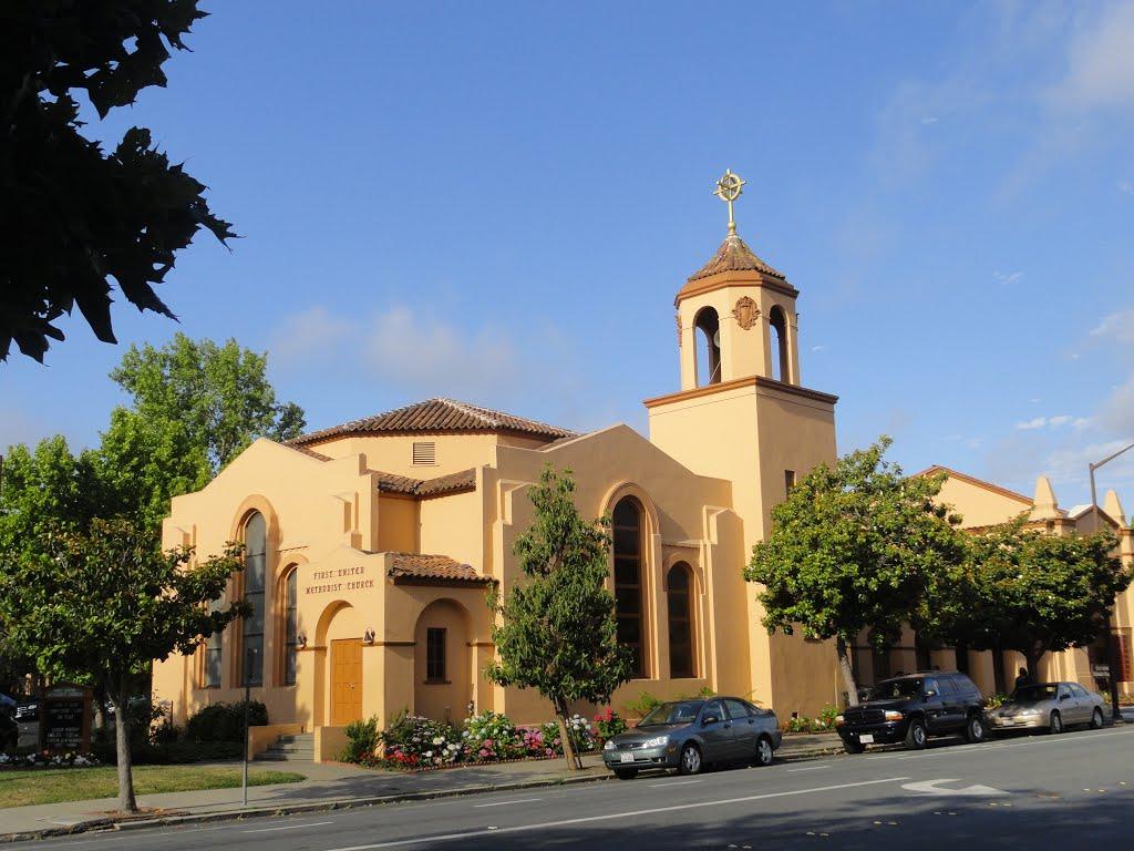 Methodist church,broadway,redwood city, Редвуд-Сити