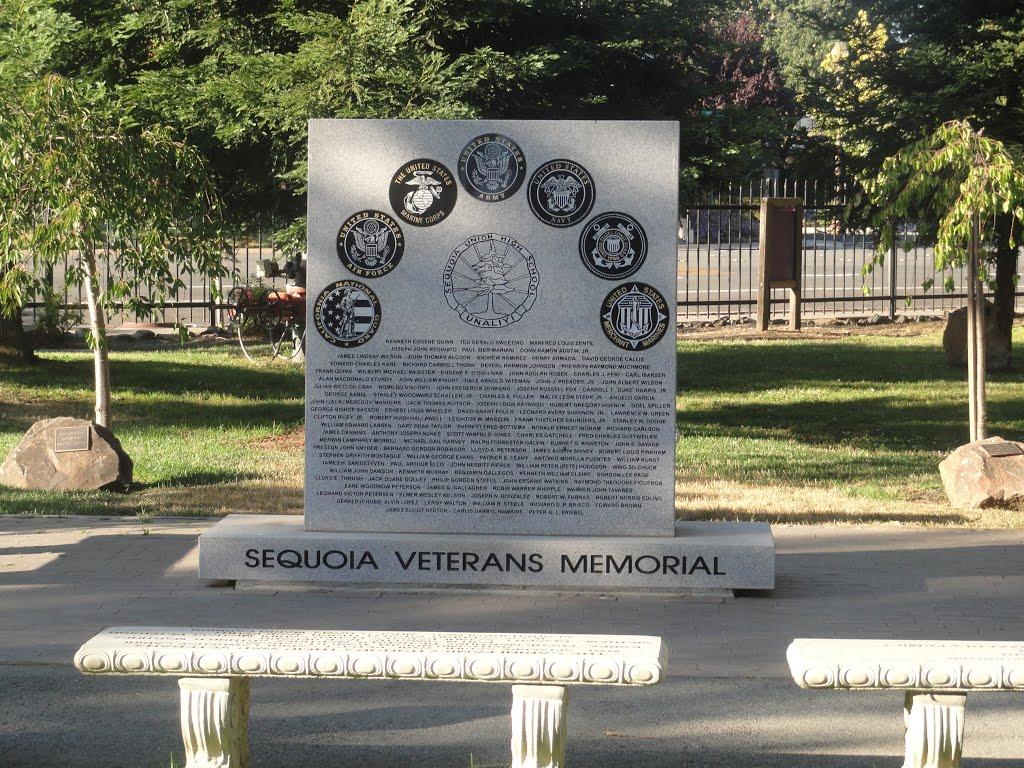 Sequoia veterans memorial,Redwood City, Редвуд-Сити