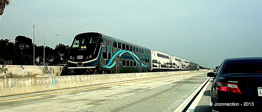 Metro Link and Fast Track Lanes I-10 Eastbound • Rosemead, Сан-Габриэль