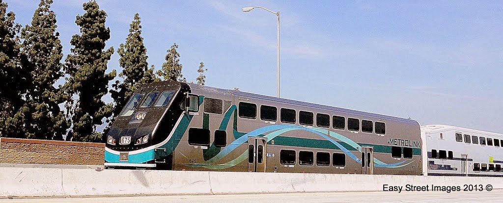 Metrolink Inbound from San Bernardino • 10 Fwy E. • Rosemead, CA, Сан-Габриэль