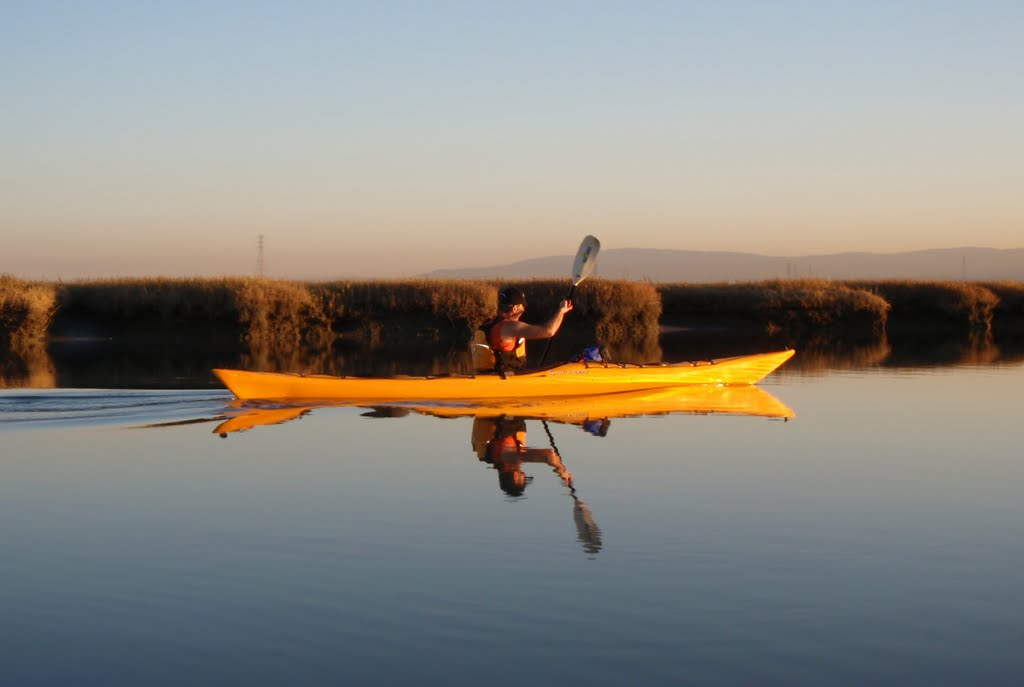 Paddling in Steinberger Slough, Сан-Карлос