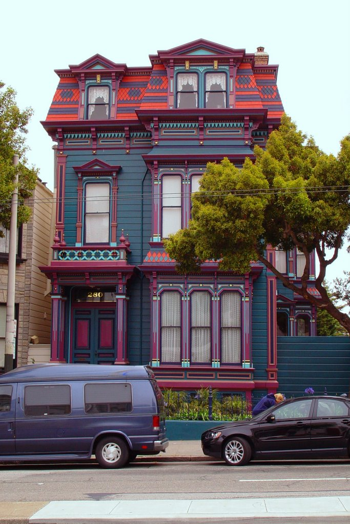 1885 Charles Hinkel house, second empire style, Lower Haight district SF (6-2008), Сан-Франциско