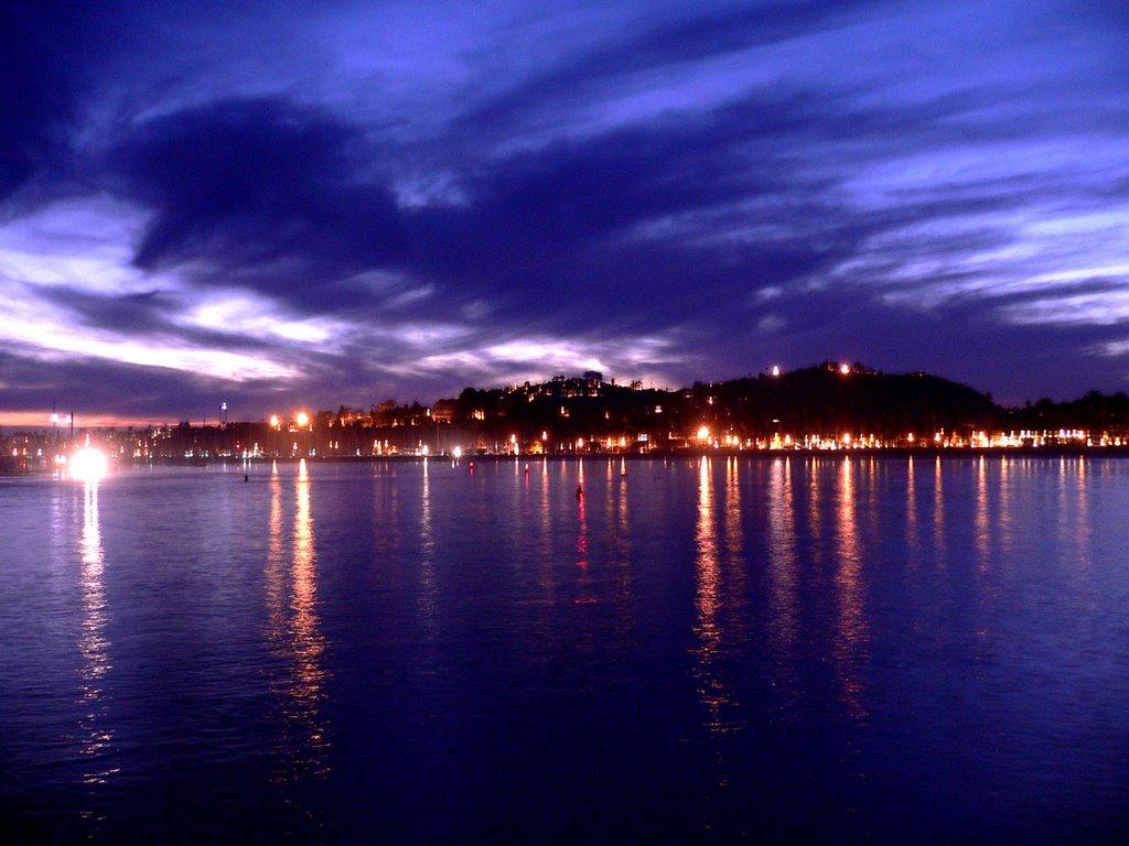 Santa Barbara at dusk, Санта-Барбара