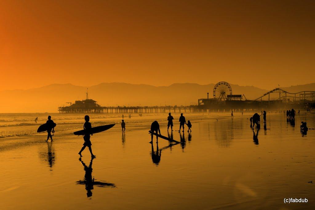 Sunset ! Santa Monica . California, Санта-Моника
