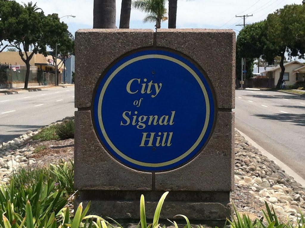 Signal Hill City Sign, Сигнал-Хилл