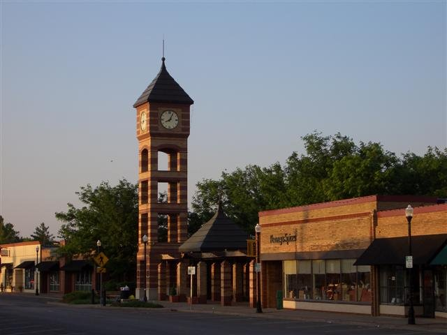 clock tower, downtown Overland Park,KS, Оверленд-Парк
