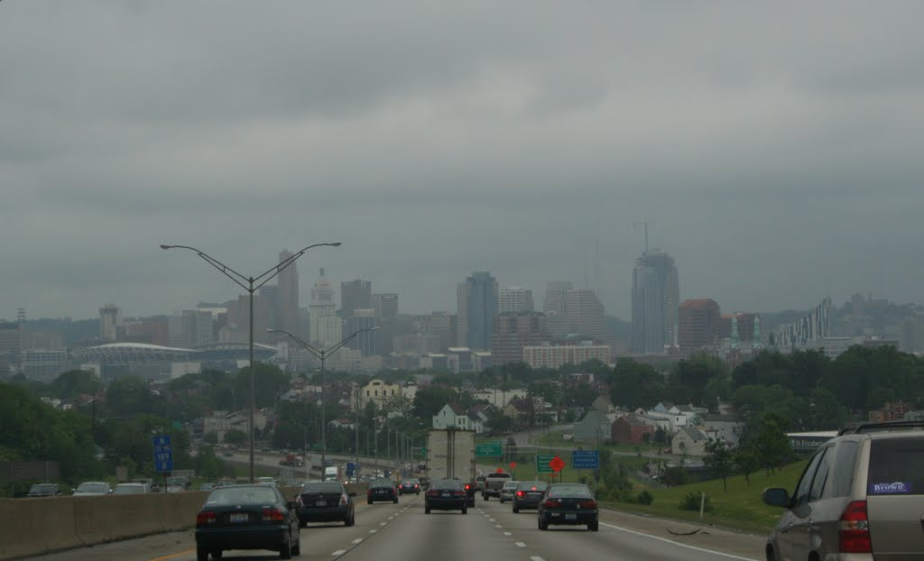 Cincinnati, Downtown From Interstate 71, Ковингтон