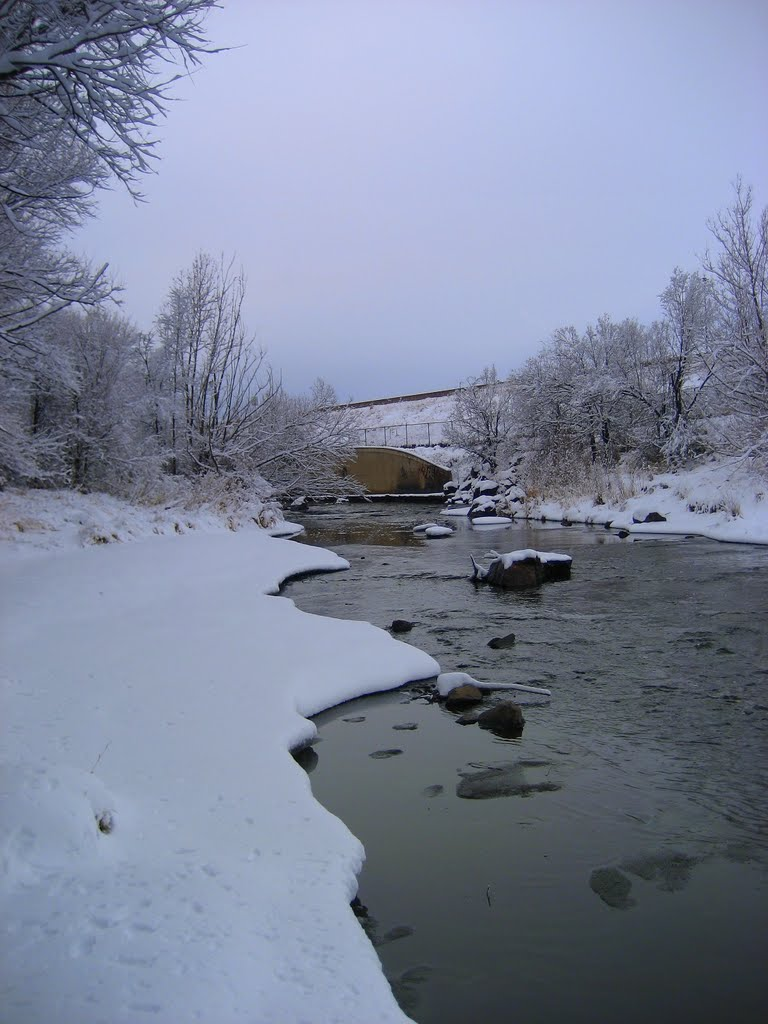 Clear Creek morning snow, Арвада