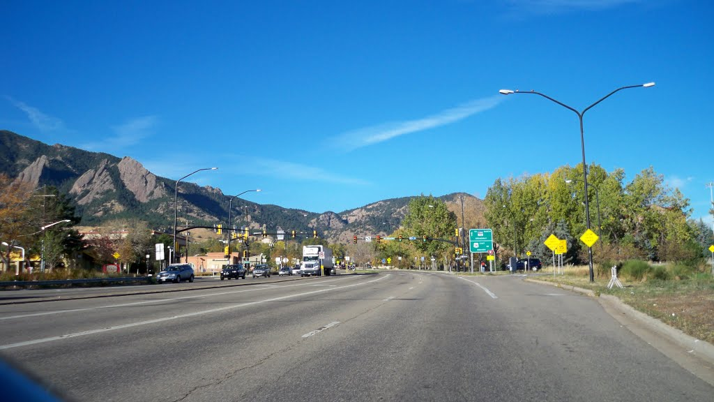 Broadway Avenue,Boulder,Colorado,USA, Боулдер
