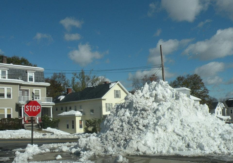 Snow Pile from Courthouse Parking Lot, Леоминстер