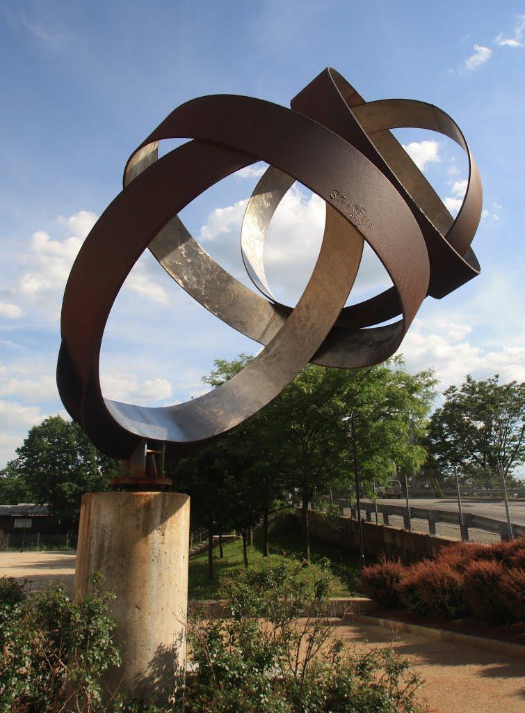 Escultura en la estación del tren de Lawrence-MA, Лоуренс