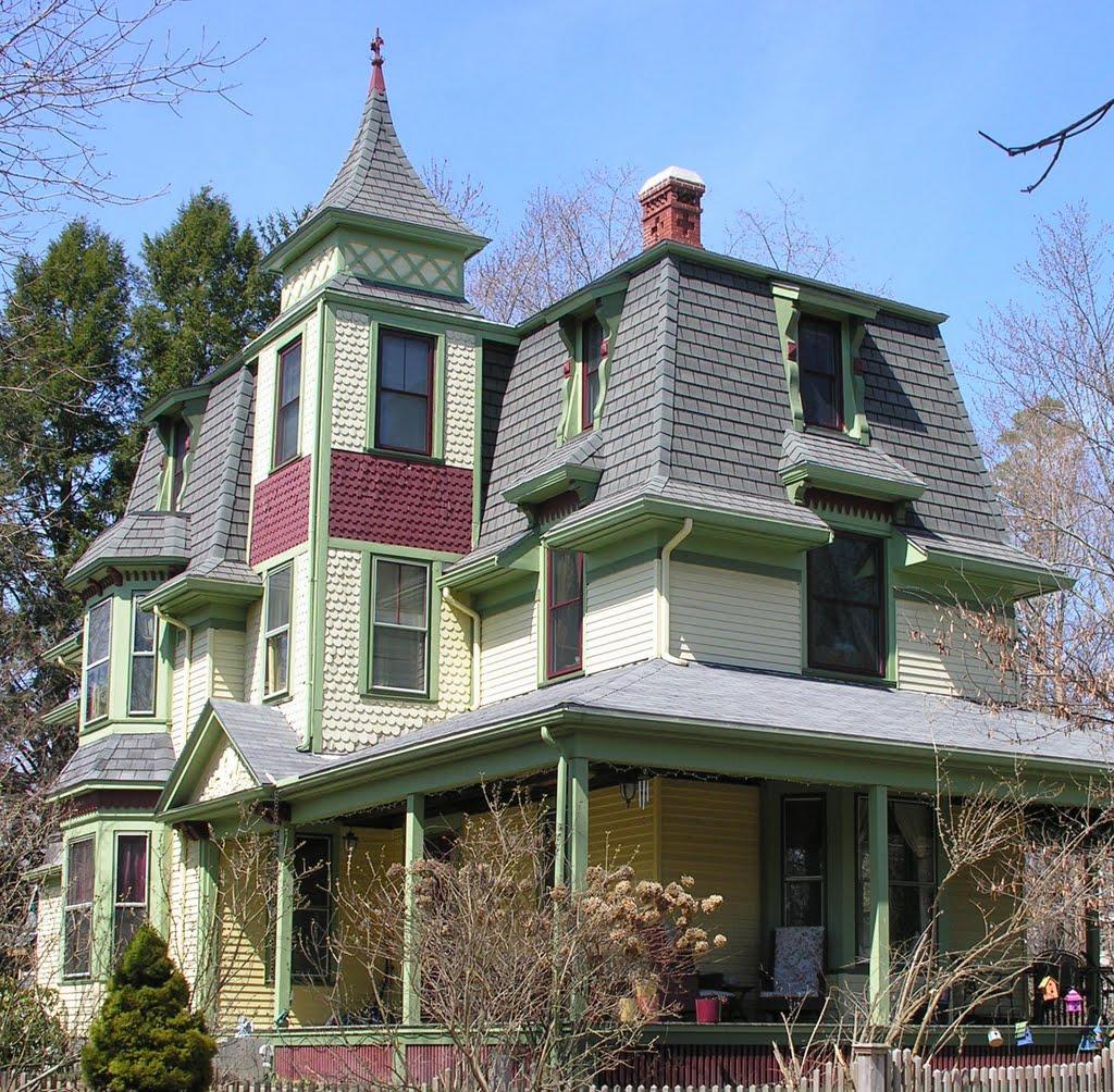 Walnut Street Victorian House, 1870s, Stick Style, Натик